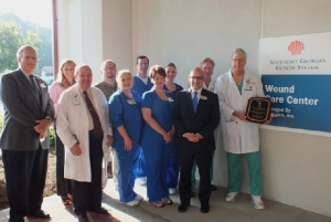 SGHS Staff Members Celebrate the Robert A. Warriner III, M.D., Center of Excellence award